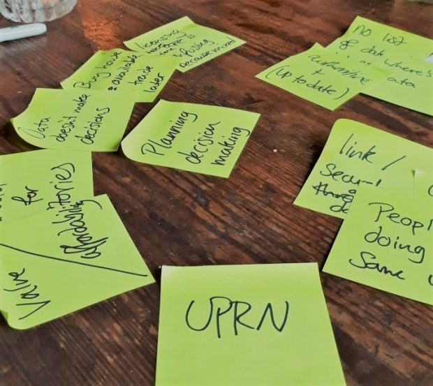 Postit notes following event