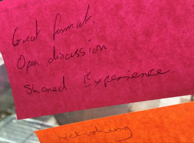 Feedback from a retrospective session during the Leeds roadshow