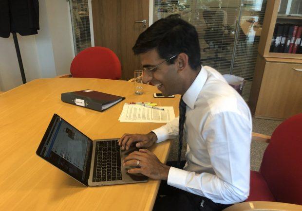 Rishi Sunak MP answering questions on Slack