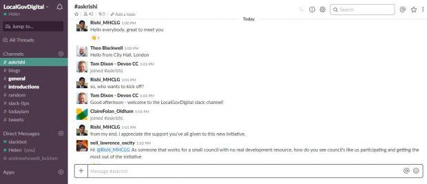 Screenshot of the Slack conversation